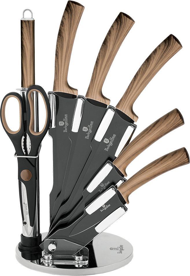 Набор ножей Berlinger Haus Forest Line, на подставке, 8 предметов. 2287-BH нож borner ideal картофельный длина лезвия 8 см