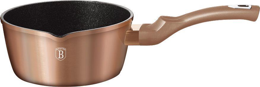 Ковш Berlinger Haus Rosegold Line, диаметр 16 см. 1513N -BH1513N-BHКовш, 16*7,5см, 1,2л, кованый алюминий, толщина стенок 0,5 см, 3 слоя мраморно-гранитного покрытия эргономичная ручка soft touch, индукционное дно, подставка под горячее, цвет: золотистый. Подходит для всех видов плит: газовых, электрических, стеклокерамических, галогенных, индукционных.