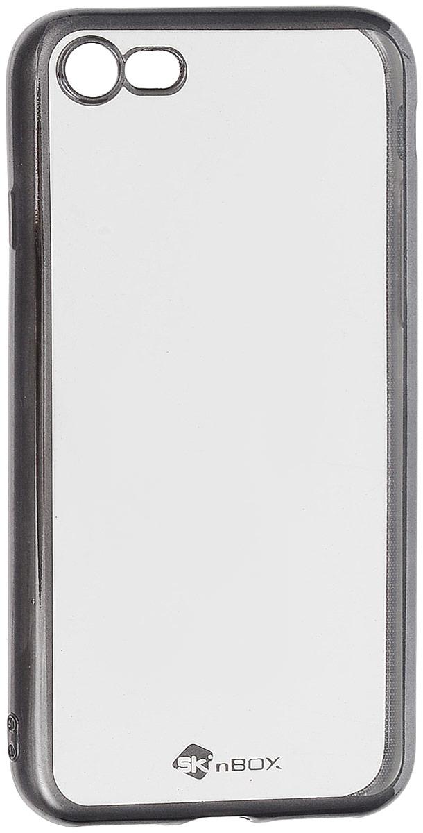 Skinbox 4People Silicone Chrome Border чехол для Apple iPhone 7/8, Dark Silver2000000112824Чехол-накладка Skinbox 4People Silicone Chrome Border для Apple iPhone 7 обеспечивает надежную защиту корпуса смартфона от механических повреждений и надолго сохраняет его привлекательный внешний вид. Накладка выполнена из высококачественного силикона, плотно прилегает и не скользит в руках. Чехол также обеспечивает свободный доступ ко всем разъемам и клавишам устройства.