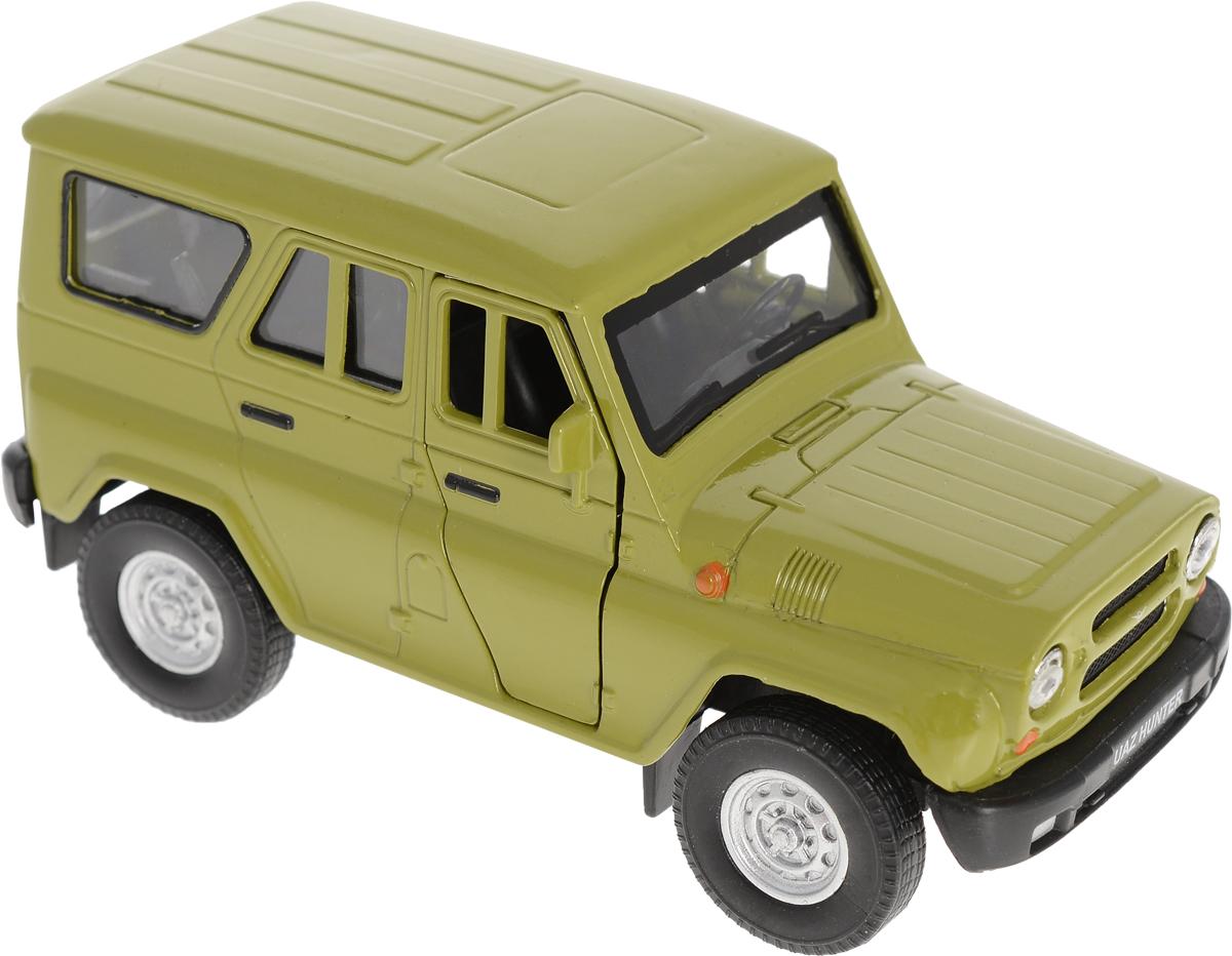 Autogrand Модель автомобиля УАЗ Hunter цвет зеленый игрушка модель а м уаз 469б оливково зеленый