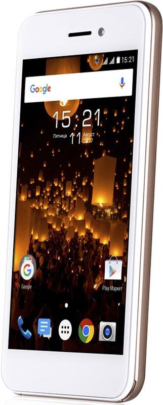 Fly Nimbus 16 FS459, Champagne Gold10313Fly Nimbus 16 FS459 - это лаконичный дизайн, высокоскоростной 4G интернет, современная и функциональная ОС Android 7.Эргономичный корпус модели с грамотным соотношением сторон создают комфорт и удобство при ежедневном использовании смартфона. Модель оснащена компактным 4.5 TN дисплеем, выполненным по технологии 2.5D, благодаря которой стекло имеет изогнутую по краям форму, подчеркивая эстетическую завершенность дизайна смартфона. Экран отличается хорошим качеством изображения, высокой чувствительностью и низким энергопотреблением, что положительно сказывается на автономной работе устройства.Fly Nimbus 16 обеспечит вас качественной связью и мгновенным доступом в интернет. Смартфон традиционно имеет два слота для микро SIM-карт, что позволит одновременно использовать различные тарифные планы для экономии средств, и работает в 2G / 3G / 4G cat 4 (band 3, 7, 20) сетях, благодаря чему вы сможете загружать данные со скоростью до 150 Мб/с.Для каждого значимого момента у вас под рукой есть камера с разрешением 5 Мпикс. Фотографии получаются яркими и четкими даже в условиях недостаточной освещенности. Создавайте интересные и запоминающиеся видео в разрешении Full HD и делитесь ими в социальных сетях. А 2 Мпикс фронтальная камера послужит отличным помощником в общении по скайпу с родными и близкими или ведения онлайн трансляций.Производительный процессор под управлением современной ОС Android 7 совместно с 1 ГБ оперативной памяти делают работу смартфона слаженной и очень быстрой. Запросы обрабатываются мгновенно, что позволяет выполнять в два раза больше задач. Благодаря встроенной памяти 8 ГБ с возможностью её расширения до 64 ГБ с помощью карт microSDHC сохранить весь контент не составит труда.Литий-ионный аккумулятор ёмкостью 1800 мАч в тандеме с функциями Doze и App Standby сделают расход заряда батареи умным и продолжительным.Телефон сертифицирован EAC и имеет русифицированный интерфейс меню и Руководство пользователя.