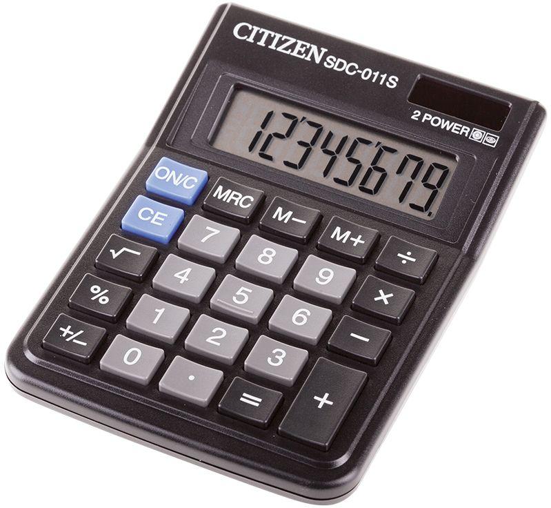 Citizen Настольный калькулятор SDC-011SSDC-011SЛегкий и компактный настольный калькулятор способен выполнять простейшие математические вычисления. Имеет клавишу смены знака и три клавиши памяти.Размеры 87 х 120 х 220 мм.