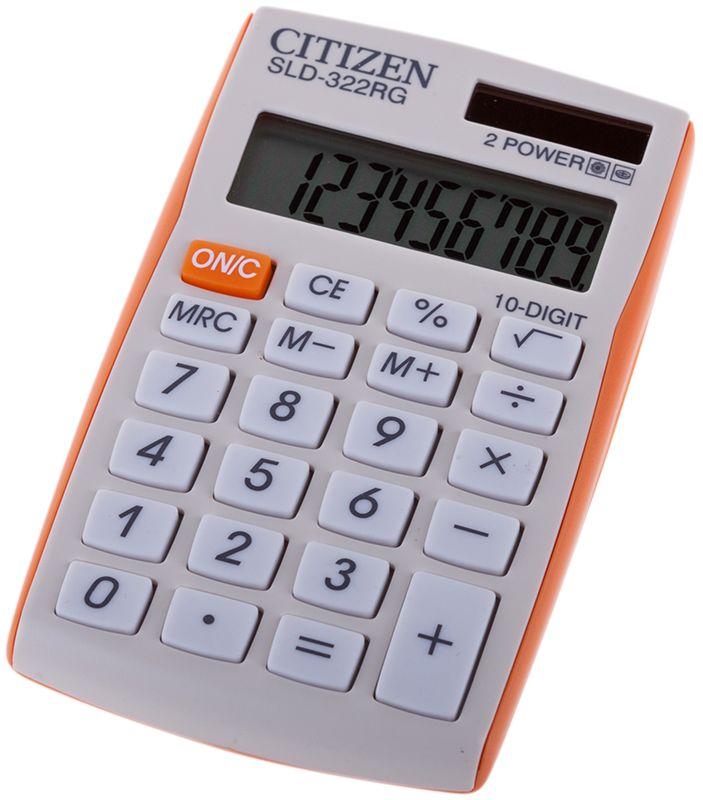 Citizen Карманный калькулятор SLD-322 цвет оранжевыйSLD-322RGВыполняет простейшие математические действия: сложение, вычитание, умножение, деление, операции с корнем и процентами. Имеет три клавиши памяти. Режим автоотключения. Размеры 64 х 105 х 9 мм.
