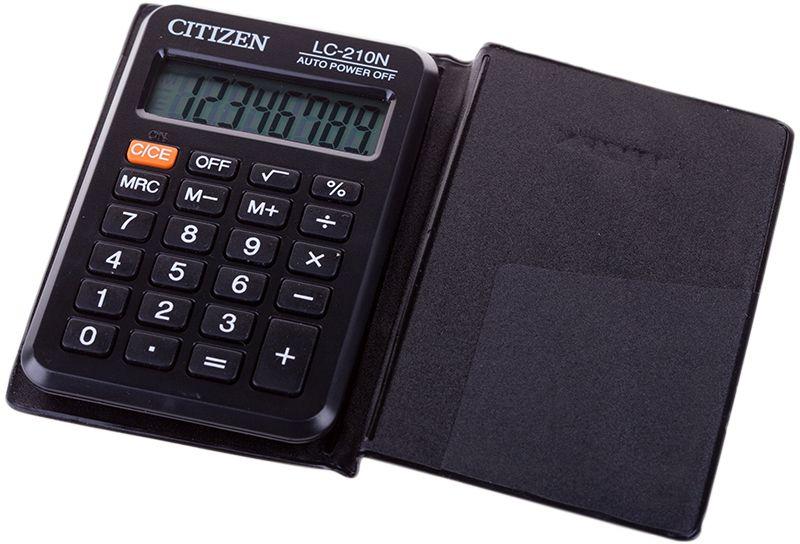 Citizen Карманный калькулятор цвет серый LC-210NLC-210NПлоский однострочный экран. Тип батареи CR2032. Имеет функцию вычисления квадратного корня. Три кнопки памяти. Размеры 60 х 99 х 7 мм. Вес 34 г.