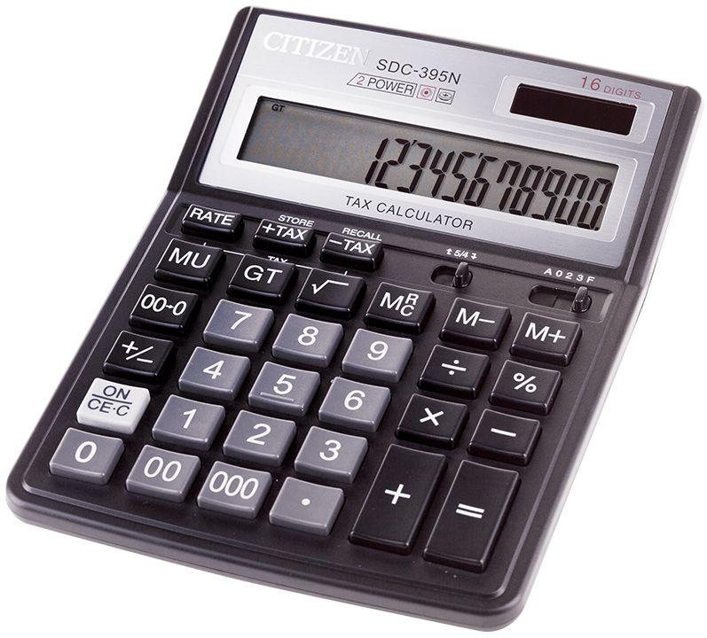 Citizen Настольный калькулятор SDC-395NSDC-395NВыполняет вычисления с учетом торговой наценки и НДС, имеет функцию суммирования результатов всех предыдущих вычислений, а также удобные клавиши двойного и тройного нуля, правки числа, смены знака, режим автоматического отключения. Модель снабжена настройкой представления десятичных чисел и округления значений. Поставляется в коробке.