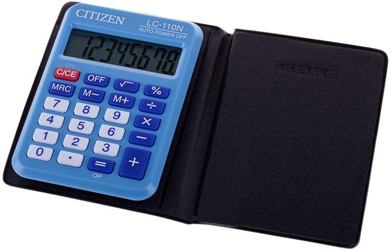 Citizen Карманный калькулятор цвет голубой