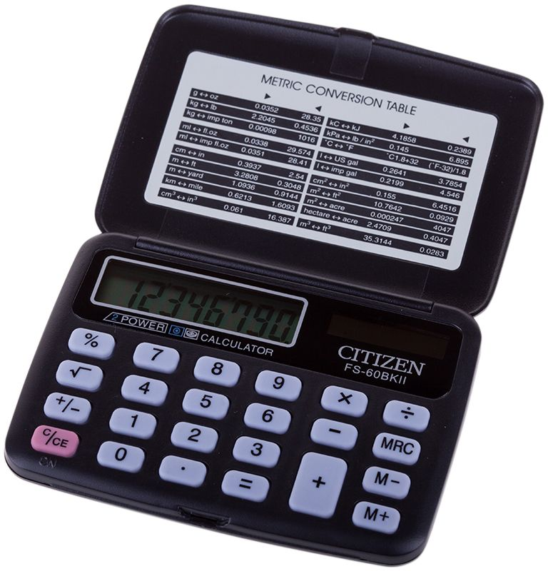 Citizen Карманный калькулятор FS-60BKII клавиши купить