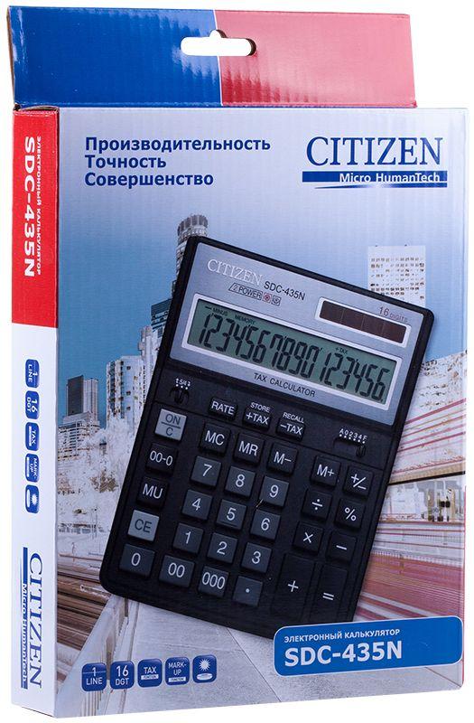 Citizen Настольный калькулятор цвет черный SDC-435N