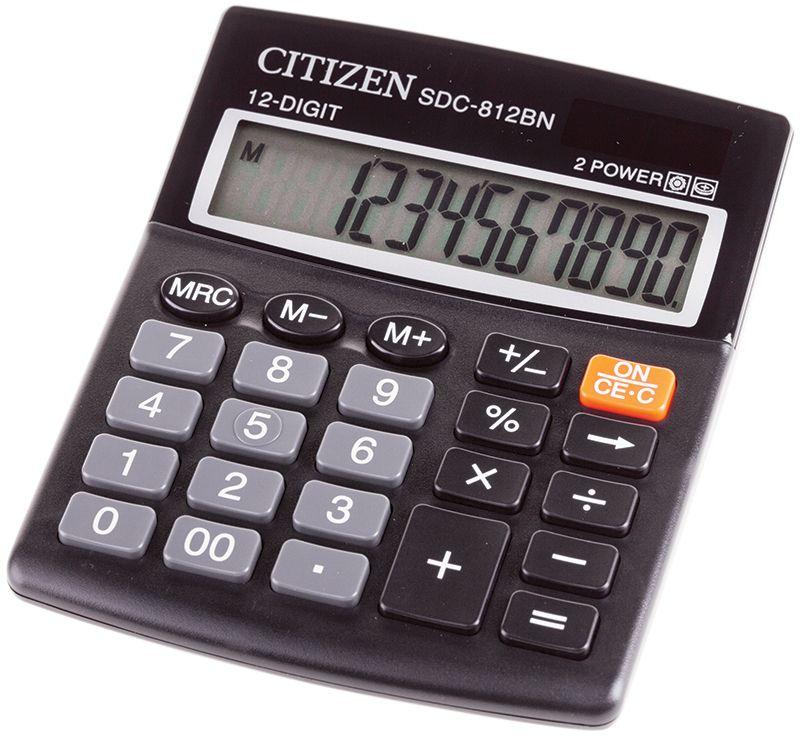 Citizen Настольный калькулятор SDC-812BN клавиши купить