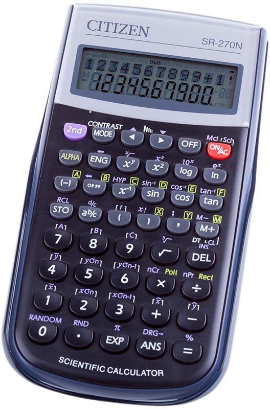 Citizen Инженерный калькулятор SR-270N цвет черный citizen citizen sr 135frd красный 18 научный