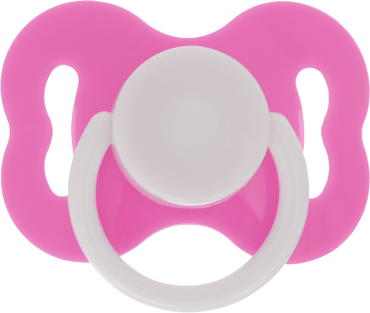 Lubby Пустышка силиконовая с рельефной поверхностью от 3 месяцев цвет розовый