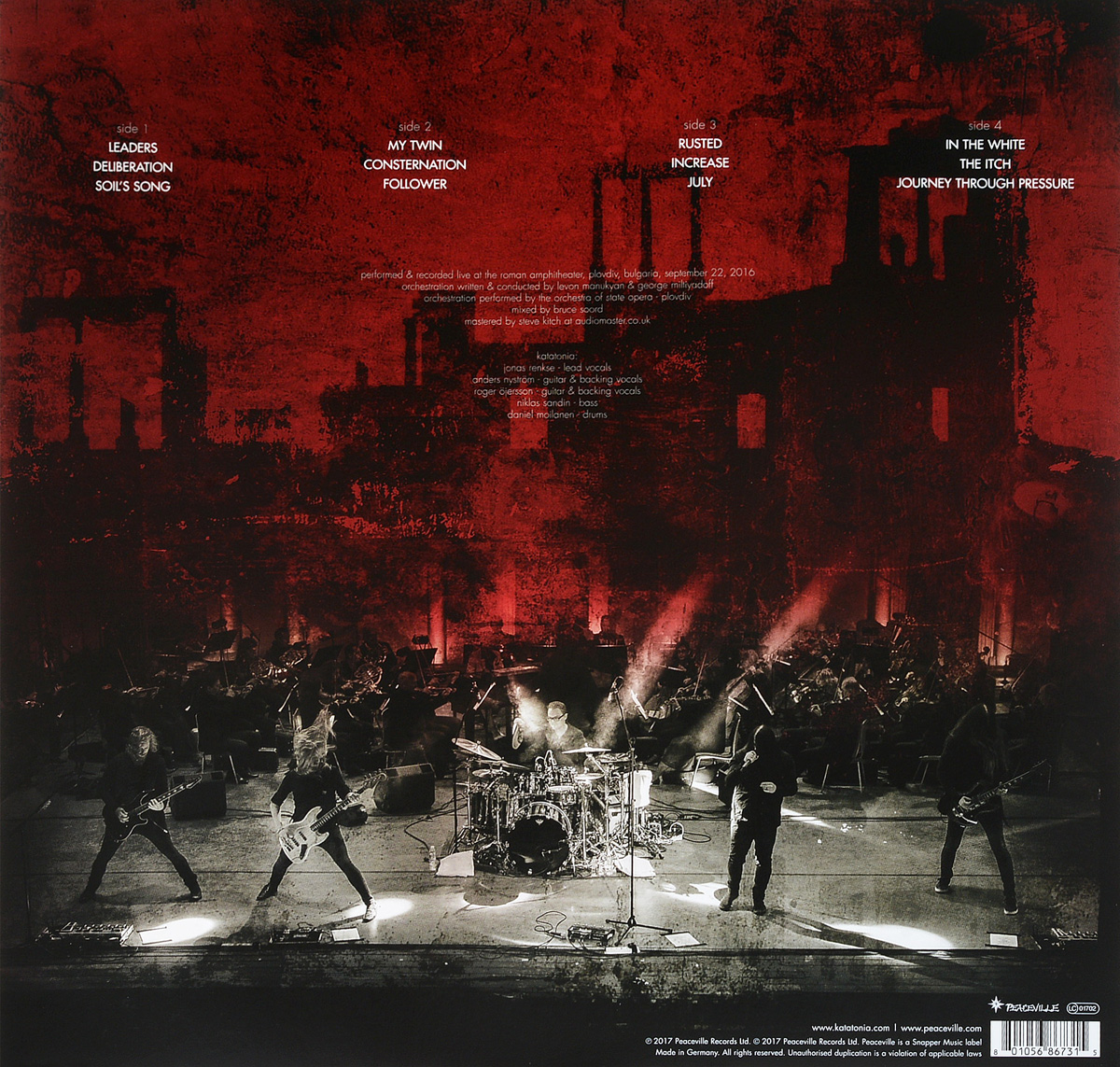 Katatonia.  The Great Cold Distance.  Live In Bulgaria (2 LP) Peaceville Records