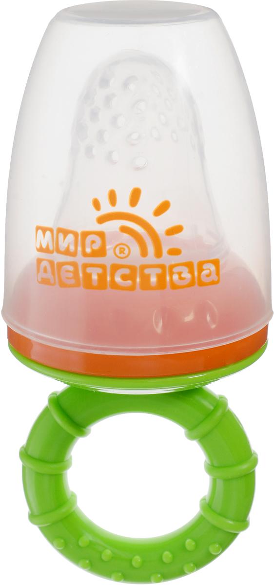Мир детства Контейнер для прикорма цвет салатовый оранжевый