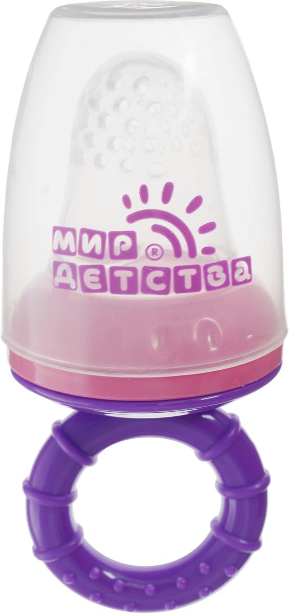 Мир детства Контейнер для прикорма цвет фиолетовый розовый