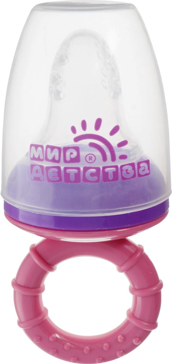 Мир детства Контейнер для прикорма цвет розовый фиолетовый