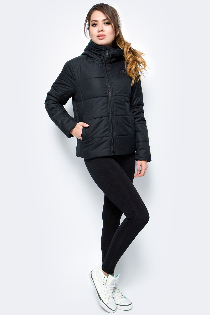 Куртка женская Converse Core Poly Fill Puffer, цвет: черный. 10004548001. Размер XL (50) esisto new black quilted puffer vest msrp $79 dbfl