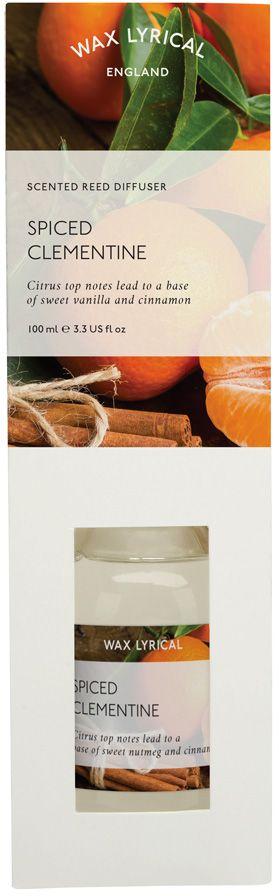 Ароматический диффузор Wax Lyrical Пряный мандарин, 100 млWLP523Ароматический диффузор Пряный мандарин 100 мл. Как пользоваться ароматическим диффузором? Откройте упаковку, достаньте содержимое. Откройте бутылочку, освободите палочки от скотча и вставьте в бутылочку. Интенсивность аромата можно регулировать количеством вставленных палочек. Также для достижения более насыщенного аромата, время от времени переворачивайте палочки и заново вставляйте в бутылочку.