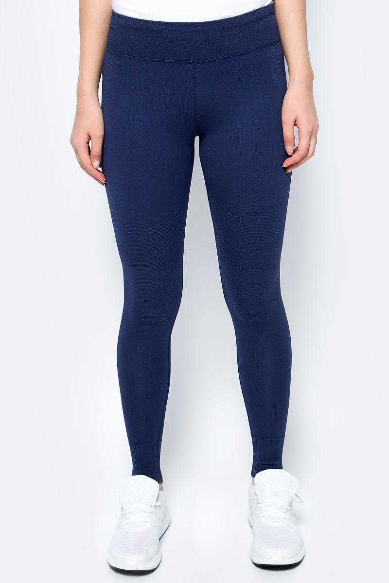 Леггинсы женские Converse Engineered Jacquard Legging, цвет: синий. 10004492471. Размер XS (42)