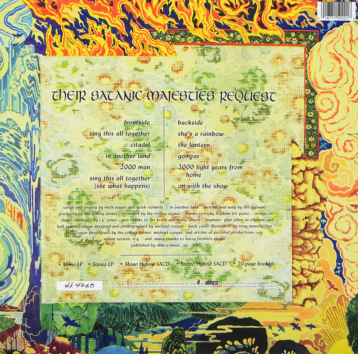 Rolling Stones. The Their Satanic Majesties Request (2 LP + 2 SACD) ABKCO Records