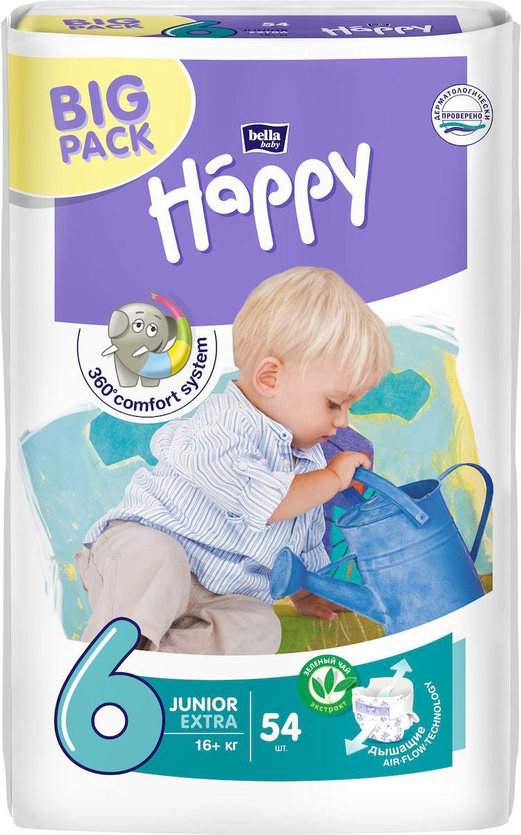 Bella baby Happy Подгузники, 16+ кг, 54 шт bella влажные салфетки baby happy алое вера 56 шт