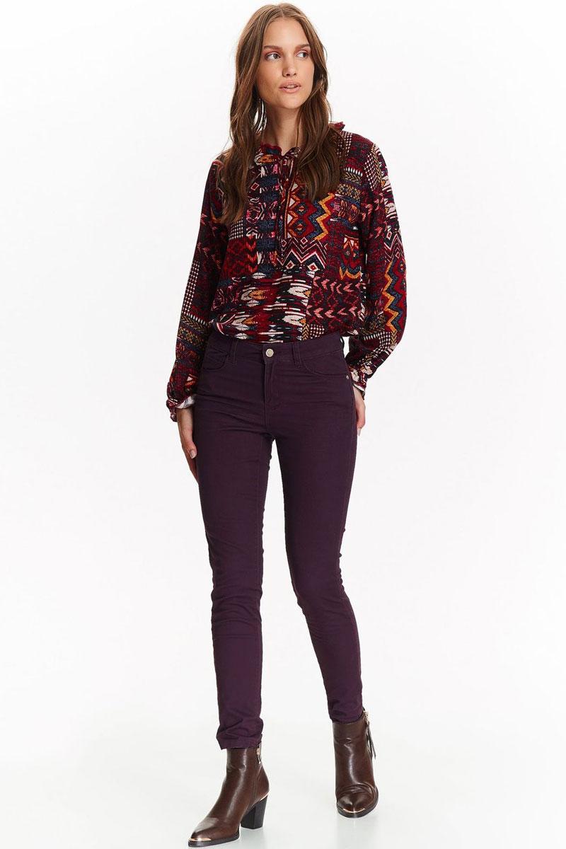 Брюки женские Top Secret, цвет: фиолетовый. SSP2644FI. Размер 42 (50) шорты женские top secret цвет оранжевый ssz0727po размер 36 42