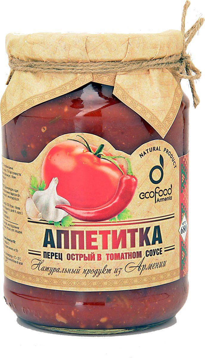 Ecofood Аппетитка перец острый в томатном соусе, 750 г ecofood уха по царски из осетра 530 г