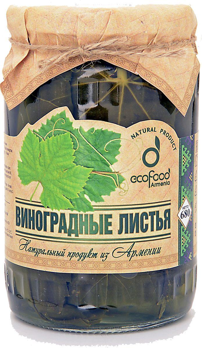 Ecofood Виноградные листья, 720 г три хозяйки манка 750 г
