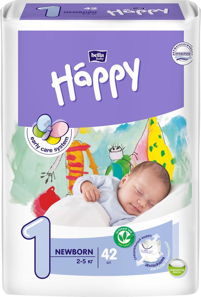 Bella baby Happy Подгузники, 2-5 кг, 42 шт bella влажные салфетки baby happy алое вера 56 шт