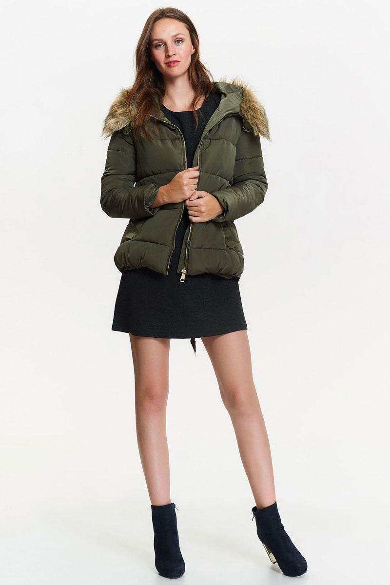 Куртка женская Top Secret, цвет: зеленый. SKU0791ZI. Размер 42 (50) женская утепленная куртка 2015 new non elastic cuffs 2015