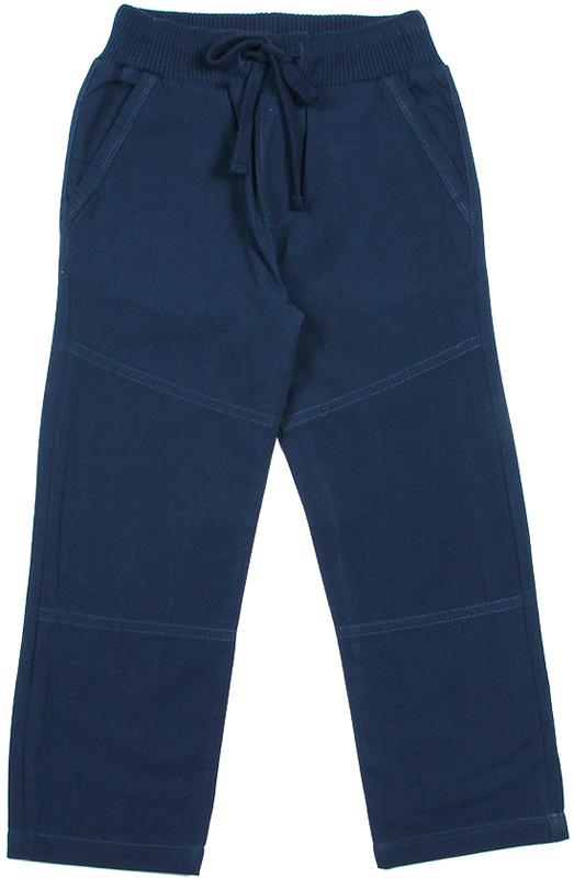 Брюки для мальчика Cherubino, цвет: темно-синий. CK 7T073. Размер 110CK 7T073Брюки для мальчика текстильные, на тонкой хлопковой подкладке. Пояс на резинке с регулируемым шнуром.