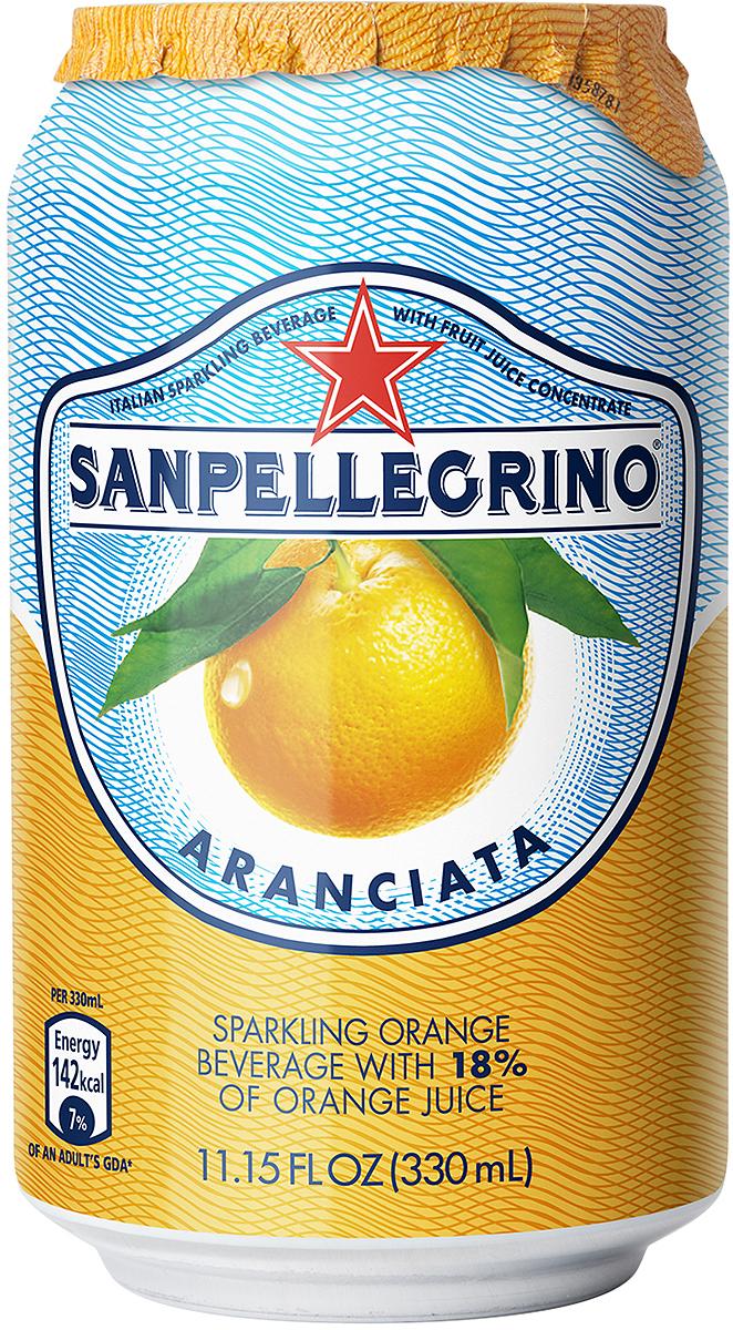 S.Pellegrino напиток среднегазированный сокосодержащий апельсиновый, 0,33 л00000885Sanpellegrino безалкогольный среднегазированный сокосодержащий напиток (апельсиновый). В основе напитка лежит рецепт домашнего итальянского лимонада из натурального сока с добавлением минеральной воды. Согретые теплым итальянским солнцем фрукты в