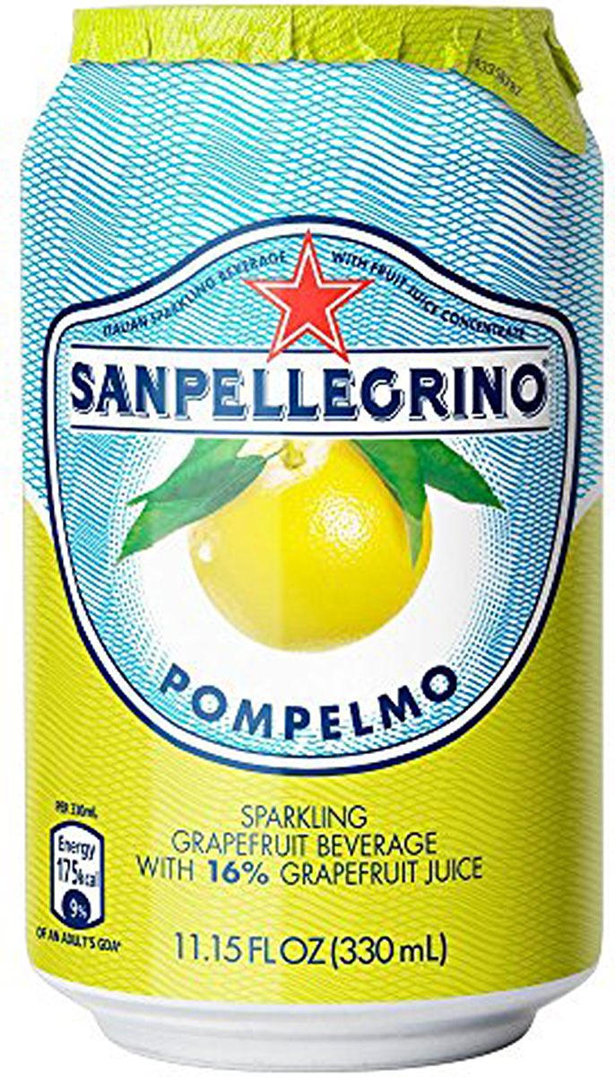 S.Pellegrino напиток среднегазированны сокосодержащий грейпфрут, 0,33 л напиток родной сокосодержащий яблочный