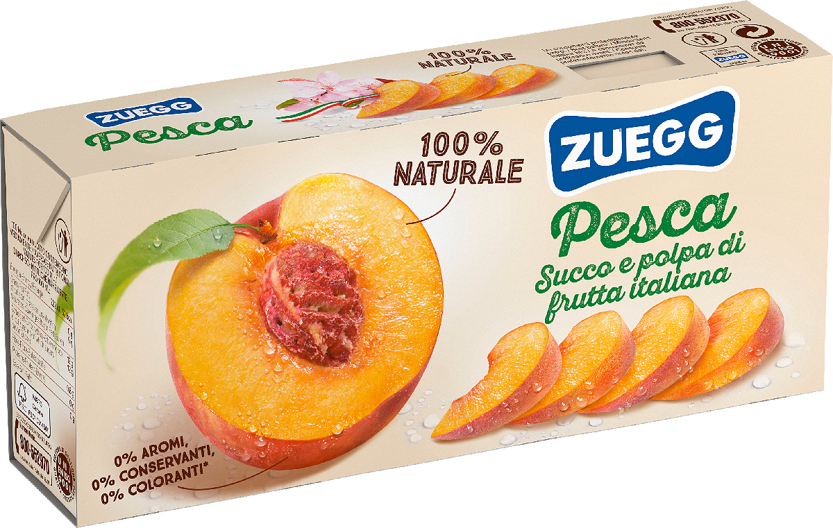 Zuegg Персик нектар, 3 шт по 200 г zuegg груша нектар 0 2 л