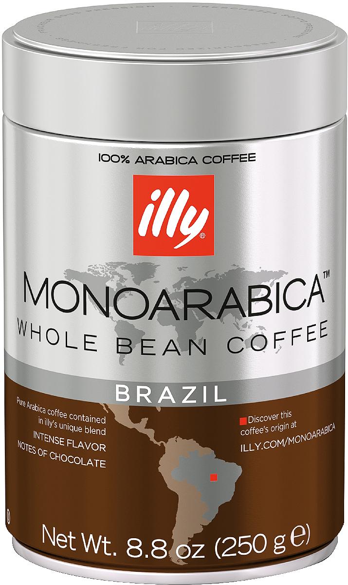 Illy Brazil Monoarabica кофе в зернах средней обжарки , 250 г6855 (7555)Полнотелый и иентенсивный вкус, с отчетливыми нотами шоколада, дополненный легкими оттенками карамели и поджаренного хлеба.Кофе: мифы и факты. Статья OZON Гид