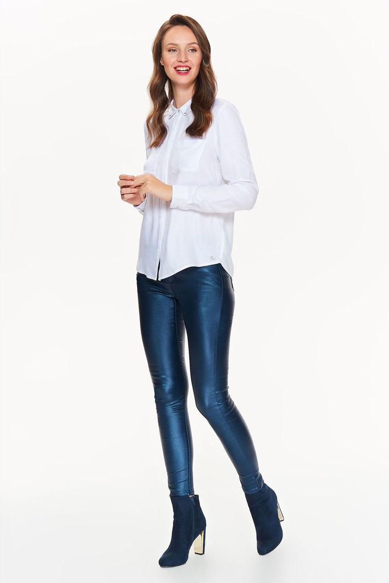 Рубашка женская Top Secret, цвет: белый. SKL2425BI. Размер 36 (44)SKL2425BIСтильная рубашка от Top Secret выполнена из натуральной вискозы. Модель с длинными рукавами и отложным воротником застегивается на пуговицы. На груди дополнена карманами.