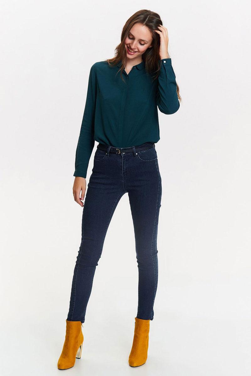 Рубашка женская Top Secret, цвет: зеленый. SKL2405ZI. Размер 38 (46)SKL2405ZIСтильная рубашка от Top Secret выполнена из натуральной вискозы. Модель с длинными рукавами и отложным воротником застегивается на пуговицы.