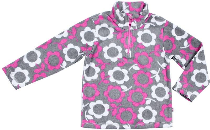 Джемпер для девочки Cherubino, цвет: розовый. CWK 61650. Размер 110CWK 61650Флисовый джемпер Cherubino для девочки - отличное решение для прохладной погоды. Модель с длинными рукавами и воротником-стойкой оформлена принтом в цветочек. На груди изделие дополнено короткой молнией. В таком джемпере вашей дочурке будет тело и комфортно в любую непогоду!