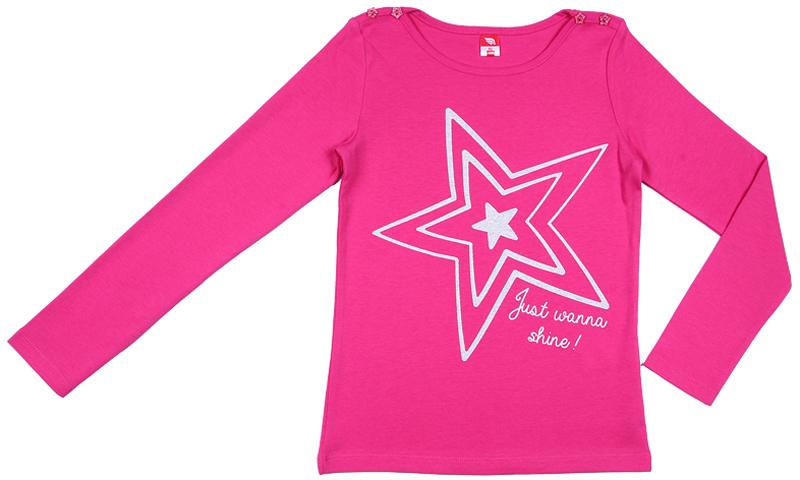 Джемпер для девочки Cherubino, цвет: фуксия. CWJ 61732 (162). Размер 158CWJ 61732 (162)Джемпер для девочки, из гладкокрашеного хлопкового трикотажа. Декорирован принтом.