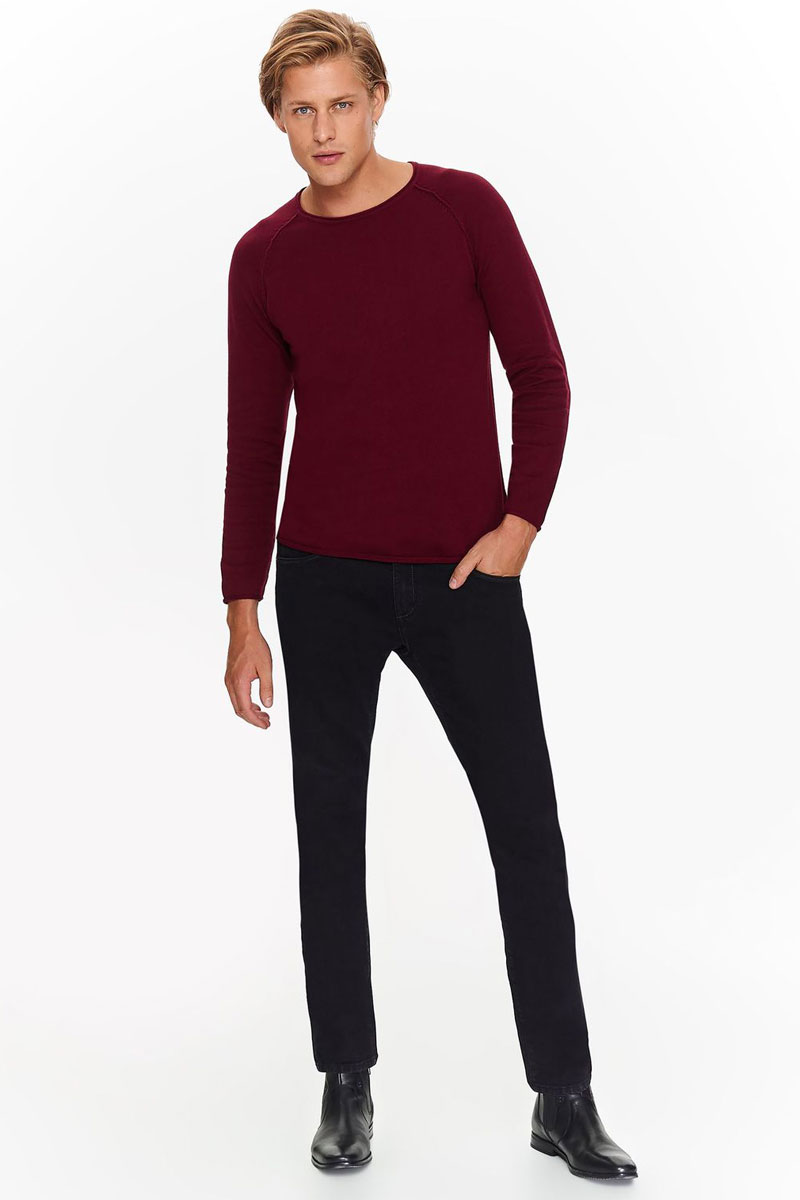 Джемпер мужской Top Secret, цвет: красный. SSW2170CE. Размер XXL (52) джемпер мужской karff цвет зеленый желтый 88000 06 размер xxl 56