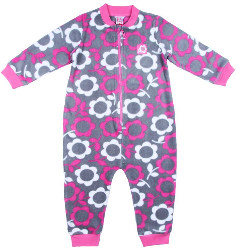 Комбинезон для девочки Cherubino, цвет: розовый. CWB 9660. Размер 86CWB 9660Теплый комбинезон Cherubino подойдет вашей малышке для прохладной погоды. Модель выполнена из набивного флиса и оформлена принтом с цветочками. Застежка-молния позволит быстро снять и одеть изделие, а специальный кармашек для защиты подбородка не позволит застежке травмировать нежную кожу ребенка. Рукава дополнены трикотажными манжетами. Низ брючин и круглый вырез горловины также дополнены трикотажной резинкой. Комбинезон полностью соответствует особенностям жизни ребенка в ранний период, не стесняя и не ограничивая его в движениях.