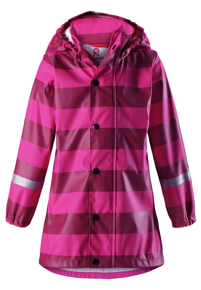 Дождевик для девочки Reima, цвет: розовый. 5215064624. Размер 1045215064624