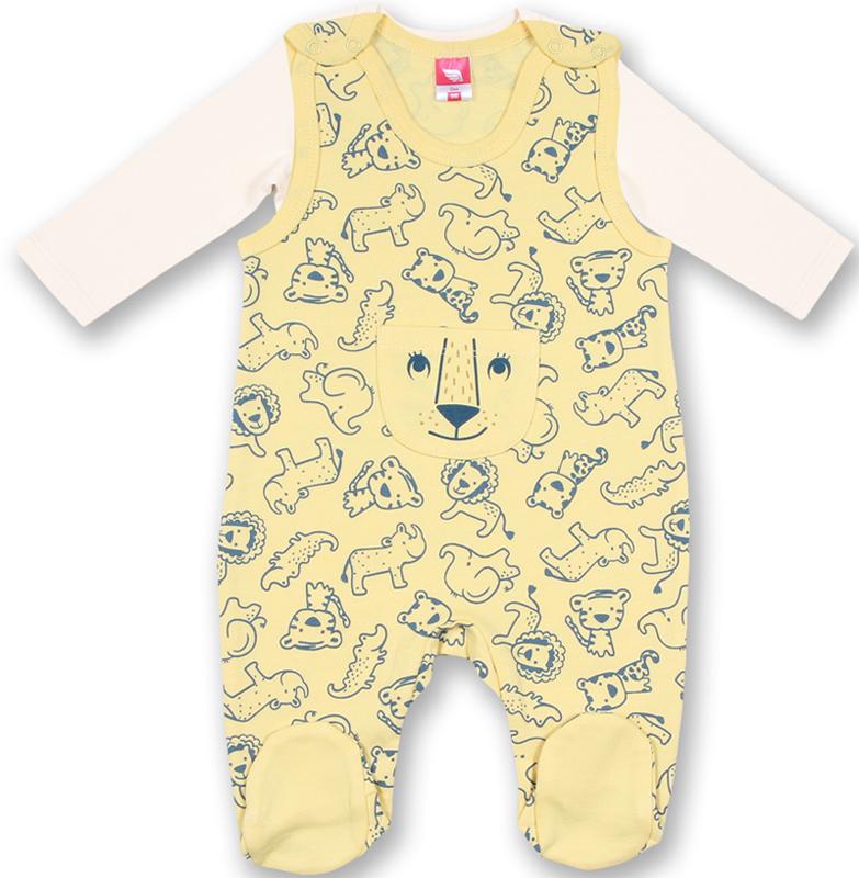 Комплект для мальчика Cherubino: распашонка, ползунки, цвет: желтый. CWN 9675 (157). Размер 74CWN 9675 (157)Комплект для мальчика Cherubino состоит из распашонки и ползунков. Изделия выполнены из натурального хлопка, благодаря чему они необычайно мягкие и приятные на ощупь, не раздражают нежную кожу ребенка и хорошо вентилируются, а эластичные швы приятны телу малыша и не препятствуют его движениям. Ползунки с грудкой и закрытыми ножками, застегивающиеся сверху на кнопки, идеально подойдут вашему малышу, обеспечивая ему наибольший комфорт, подходят для ношения с подгузником и без него. Ползунки оформлены оригинальным принтом с изображением зверей и дополнены накладным кармашком. Распашонка с длинными рукавами и круглым вырезом горловины исполнена в лаконичном дизайне. Изделия полностью соответствуют особенностям жизни малыша в ранний период, не стесняя и не ограничивая его в движениях!