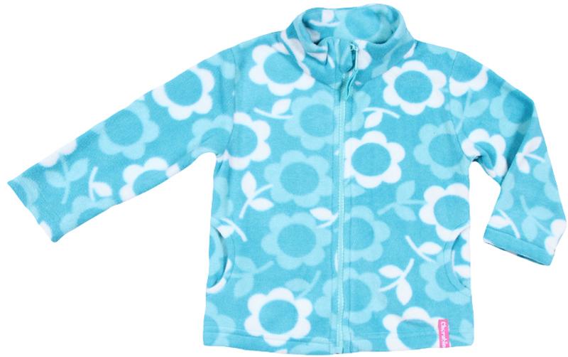 Кофта для девочки Cherubino, цвет: бирюзовый. CWB 61492. Размер 86 водолазки и лонгсливы zeyland кофта для девочки 72z4tav61