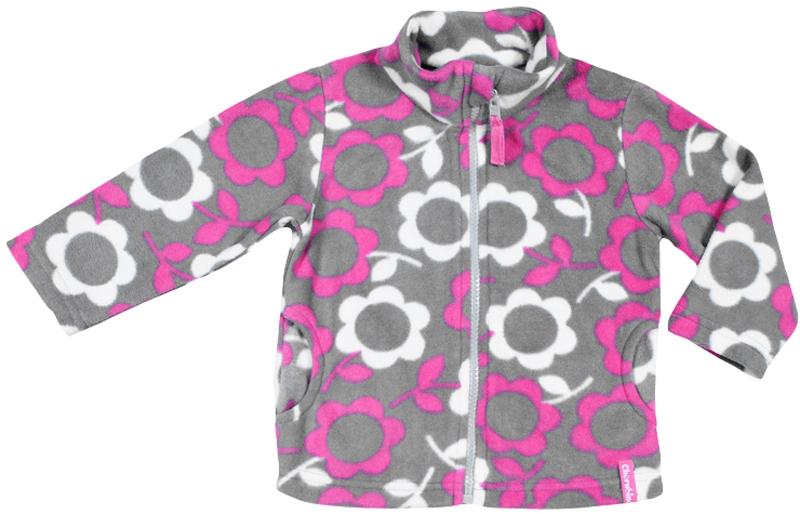 Куртка для девочки Cherubino, цвет: розовый. CWB 61492. Размер 80CWB 61492Куртка для девочки из набивного флиса, с воротником-стойкой. Застегивается на молнию.