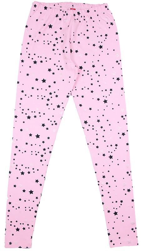 Леггинсы для девочки Cherubino, цвет: светло-розовый. CWJ 7633 (162). Размер 152CWJ 7633 (162)Леггинсы для девочки, из набивного трикотажа с эластаном.
