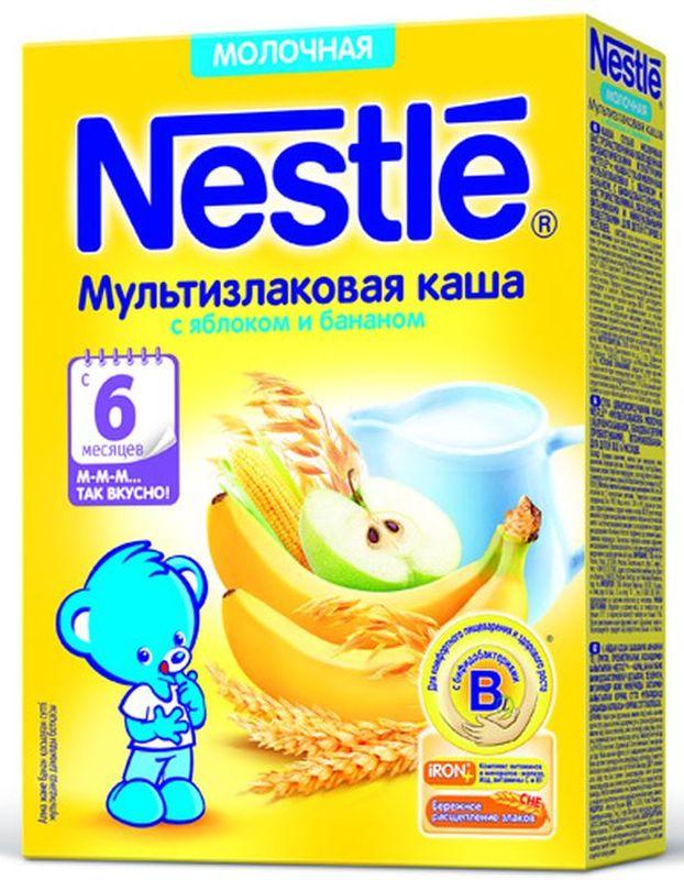 Nestle 5 злаков яблоко банан груша каша молочная, 220 г12325775Каша молочная Nestle Шагайка 5 злаков с кусочками яблока, банана и грушей с 12 месяцев 200 г. Каша приготовлена с использованием особой технологии бережного расщепления злаков СНЕ. Благодаря этому в продукте появляется естественный сладкий вкус, каша лучше усваивается и имеет повышенную пищевую ценность. Каша является полезным сбалансированным прикормом для здоровых детей. Обогащена пробиотиками - живыми бифидобактериями BL. Они способствуют нормализации пищеварения, росту здоровой микрофлоры и укреплению иммунитета, что очень важно в период введения прикорма. Каша содержит комплекс витаминов и минеральных веществ iRON+ для здорового роста и развития. 5 злаков обеспечивают организм ребенка клетчаткой и пищевыми волокнами, а добавление фруктовых кусочков (яблоко, банан, груша) способствует развитию как вкусовых восприятий малыша так и жевательных навыков, что очень важно в период постепенного перехода к взрослому меню.