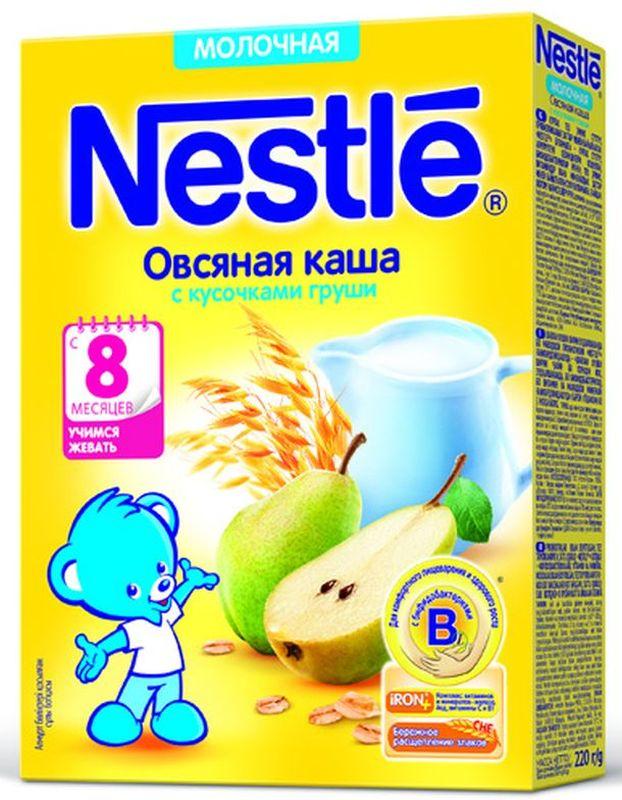 Nestle Овсяная Груша каша молочная, 220 г bebi премиум каша овсяная молочная с 5 месяцев 250 г