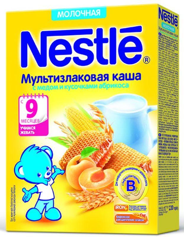 Nestle мультизлаковая мед абрикос каша молочная, 220 г каша молочная nestle мультизлаковая с яблоком черникой и малиной с 6 мес 250 г