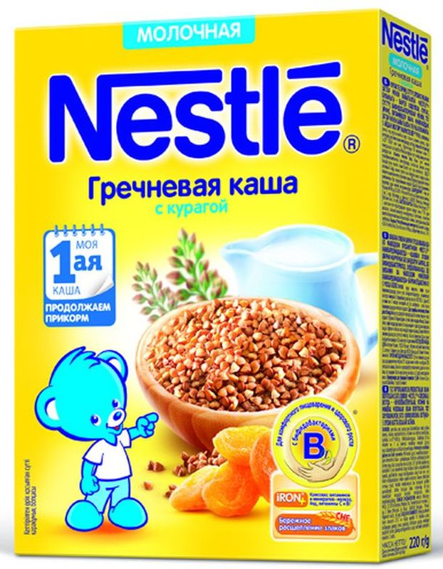 Nestle гречневая с курагой каша молочная, 220 г батарейки energizer carbon zinc eveready d r20 2шт в блистере 637087