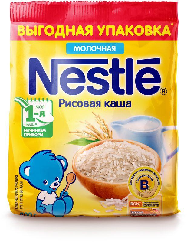 Nestle рисовая каша молочная, 200 г12308284Каша молочная Nestle рисовая с 4 месяцев 200 г. Молочная рисовая каша приготовлена с использованием особой технологии бережного расщепления злаков СНЕ. Благодаря этому в продукте появляется естественный сладкий вкус, каша лучше усваивается и имеет повышенную пищевую ценность. Каша является полезным сбалансированным прикормом для здоровых детей. Обогащена пробиотиками - живыми бифидобактериями BL. Они способствуют нормализации пищеварения, росту здоровой микрофлоры и укреплению иммунитета, что очень важно в период введения прикорма. Каша содержит комплекс витаминов и минеральных веществ iRON+ для здорового роста и развития.